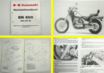 Kawasaki EN500 B  Ergänzung zum Werkstatthandbuch 450LTD Reparaturhandbuch