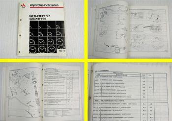Werkstatthandbuch Reparatur Richtzeiten Mitsubishi Galant EA Sigma F30 1997