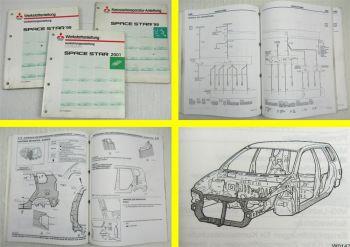 Mitsubishi Space Star Schaltpläne Elekrik 1999 - 2001 + Karosserie Reparatur