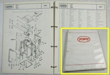 YGRY Minibagger Y14 Ersatzteilliste Parts List Catalogue des Pieces 1989