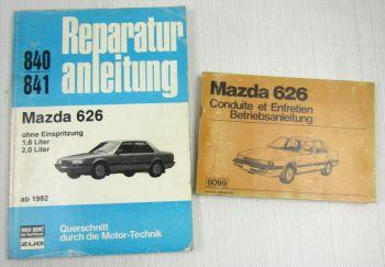 Mazda 626 Reparaturanleitung 840/841 + Betriebsanleitung ab 1982