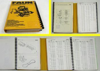 Faun F 155 Lader Ersatzteilkatalog Ersatzteilliste Spare Parts List