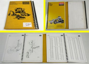 Faun F 115P Lader Ersatzteilkatalog Ersatzteilliste Spare Parts List 1979