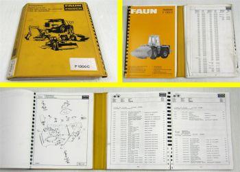 Faun F 1300C Radlader Ersatzteilkatalog Ersatzteilliste Spare Parts List