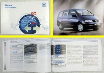 VW Sharan I 7M Bedienungsanleitung Betriebsanleitung 11/1997