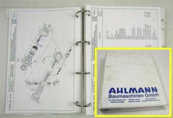 Ahlmann AF80 AF100 Frontlader Ersatzteilkatalog Ersatzteilliste Pieces Rechange