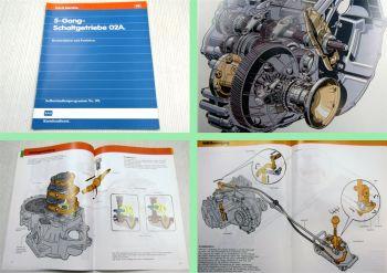 SSP 99 5-Gang Schaltgetriebe 02A Konstruktion Funktion Selbststudienprogramm