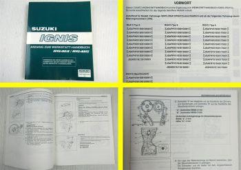 Suzuki Ignis RG413 + RG415 Sportmodell Zusatz Werkstatthandbuch 2003