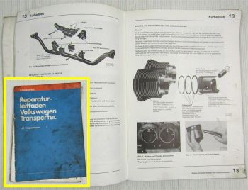 Reparaturleifaden VW T3 Bus Werkstatthandbuch 1,6 l-Vergasermotor CT CZ