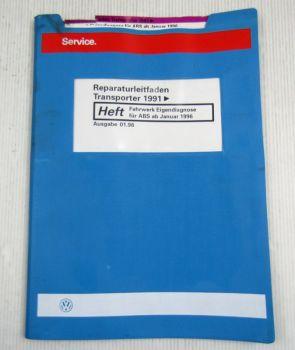 Werkstatthandbuch VW Bus Transporter T4 Eigendiagnose Fahrwerk für ABS ab 1996