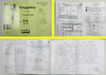 Kalmar EFA20-50 Vierwegestapler Schaltpläne Elektrik Stromlaufpläne 7/1995