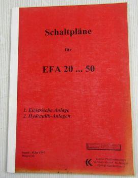 Kalmar EFA20-50 + EFY50-60E Schaltpläne Elektrik Stromlaufpläne 3/1997