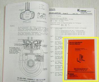 Kalmar Irion EVL Lenksystem EFQ30E EFY30E Stapler Service-Anleitung Handbuch