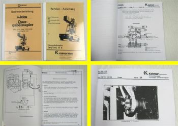 Kalmar Irion DFQ TFQ 30B Bedienungsanleitung + Sauer-Fahrantrieb mit FBA 1983