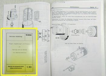 Irion Wartung Betrieb v Gleichstrommotoren Elektromotoren Service Anleitung 1993