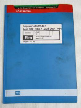 Reparaturleitfaden Audi 100 200 C3 Typ 44 1,8l Einspritzmotor 4 Zyl. PH 4B Film
