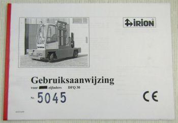 Irion DFQ30 voor zijladers Gebruiksaanwijzing Users Manual 12/1999