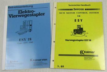 Kalmar ESY18 Bedienungsanleitung + Sevcon MCM Motor Control System Handbuch