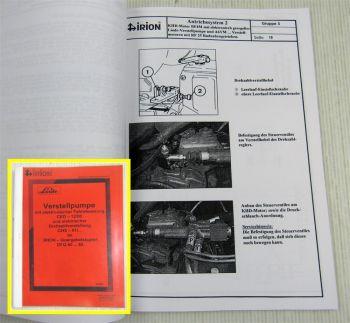 Linde Verstellpumpe für Irion Quergabelstapler DFQ 40-65 Service Handbuch 2001