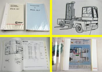 Kalmar DFQ30-50F Ersatzteilliste Technisches Handbuch Schulungsunterlagen Folien