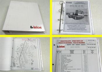 Irion DFQ 50/14/40 chariot elevateur Pieces de Rechange Liste des pieces detache
