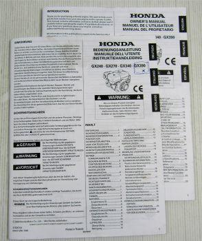 Honda GX 240 270 340 390 Motor Bedienungsanleitung Manual Instrukrtiehandleid