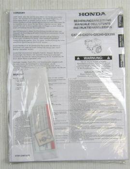 Honda GX240 270 340 390 Motor Bedienungsanleitung Manual Instruktiehandleiding