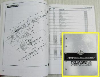 Harley Davidson FLHT FLHTC FLHRI FLHR FLTR FLHRC FLHTC 2000 Parts Catalog
