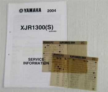 Yamaha XJR1300 (S) 2004 Service Information Wartungsanleitung Reparaturanleitung