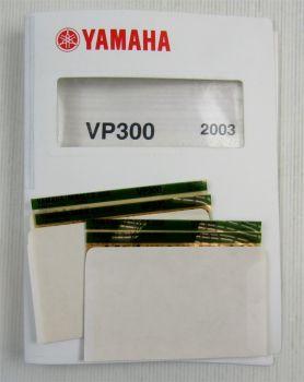 Yamaha MBK VP300 2003 Service Information Wartung Schaltplan Reparaturanleitung