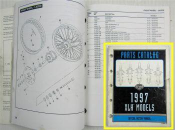 Harley Davidson XLH 883 1200 Hugger Custom Sportster Models Parts Catalog 97
