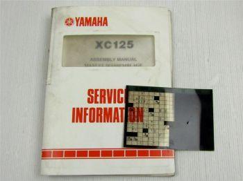 Yamaha XC125 1989 Service Information + Wartungsanleitung Reparaturanleitung