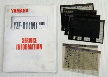 Yamaha YZF-R1 1998-2000 Service Information Wartungsanleitung Reparaturanleitung