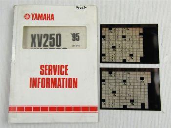 Yamaha XV250 XV250S Service Information + Wartungsanleitung 1989 - 1995