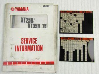 Yamaha XT250 XT350 Enduro Service Information + Wartungsanleitung 1985 - 1991