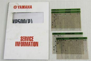 Yamaha XP500 N / P Tmax 2001/ 2002  Service Information + Wartungsanleitung