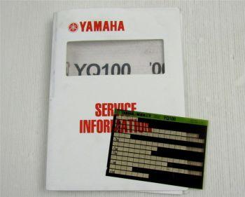 Yamaha MBK YQ100 2000 Service Information + Wartungsanleitung Reparaturanleitung