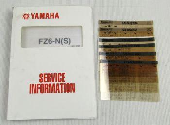 Yamaha FZ6 Fazer N / S Service Information + Wartungsanleitung 2004