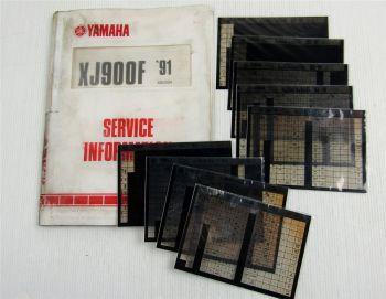 Yamaha XJ900 XJ900N XJ900F 1983 - 1991 Service Information + Wartungsanleitungen