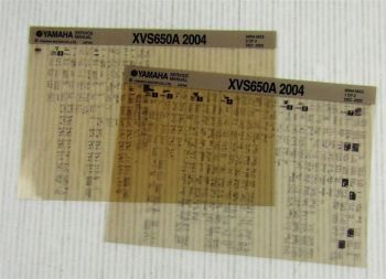 Yamaha XVS650A 2004 Wartungsanleitung Reparaturanleitung