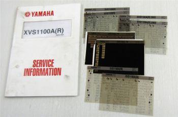 Yamaha XVS1100 N/L XVS1100A R M 1999-2003 Service Information Wartungsanleitung