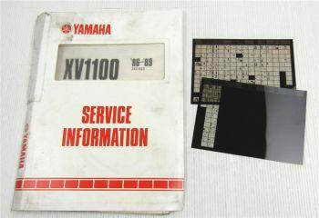 Yamaha XV1000 XV1100 + SE 1986 - 1994 Service Information Wartungsanleitung