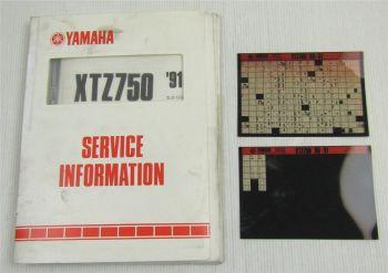 Yamaha XTZ750 1989-1991 Service Information + Wartungsanleitung