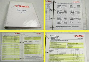 Yamaha Service Daten 2006 ca. 35 Inspektionsblätter Zweirad Inspektionsblatt