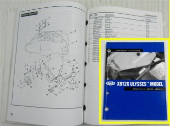 Buell XB12X Ulysses Model Code DX Spare Parts List Catalog 2006