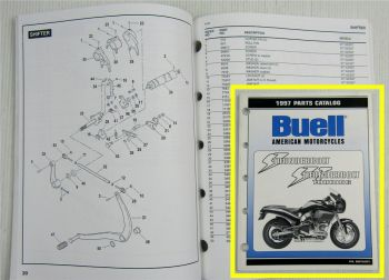 Buell Thunderbolt + Touring S3 S3T Type FS RS Spare Parts List Catalog 1997