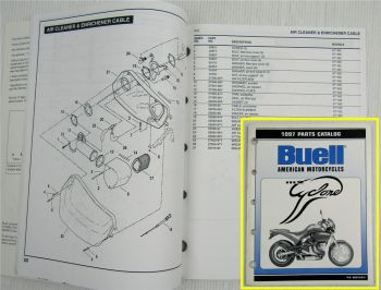 original Ersatzteilkatalog Buell M2 Cyclone Spare Parts List Catalog 1997