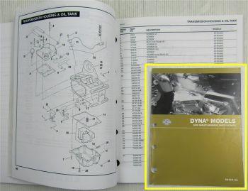 Ersatzteilliste Harley Davidson DYNA FXD Models Parts List Catalog 2005