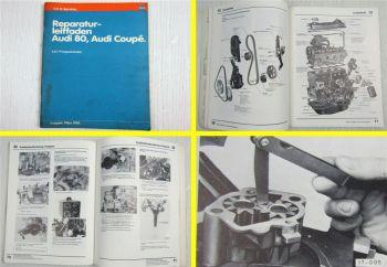 Reparaturleitfaden Audi 80 + Coupe Vergasermotor YN YY YP YU Werkstatthandbuch