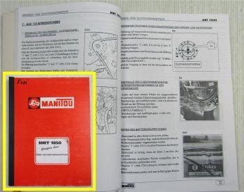Manitou MRT1850 Comfort Line Bedienungsanleitung Betrieb Wartung Ersatzteilkatal